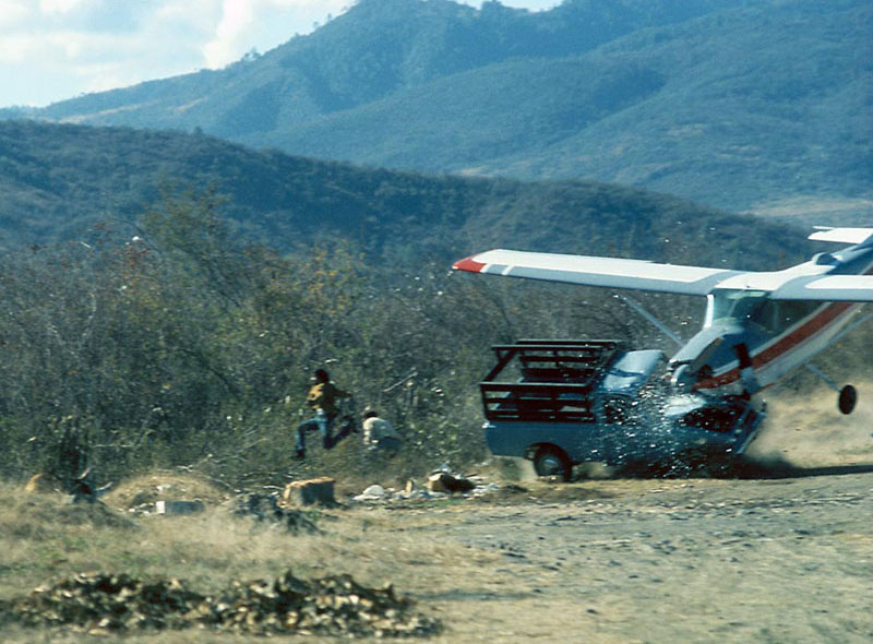 plane hits truck people jumping out of way Picture of the Day: A Very Close Call