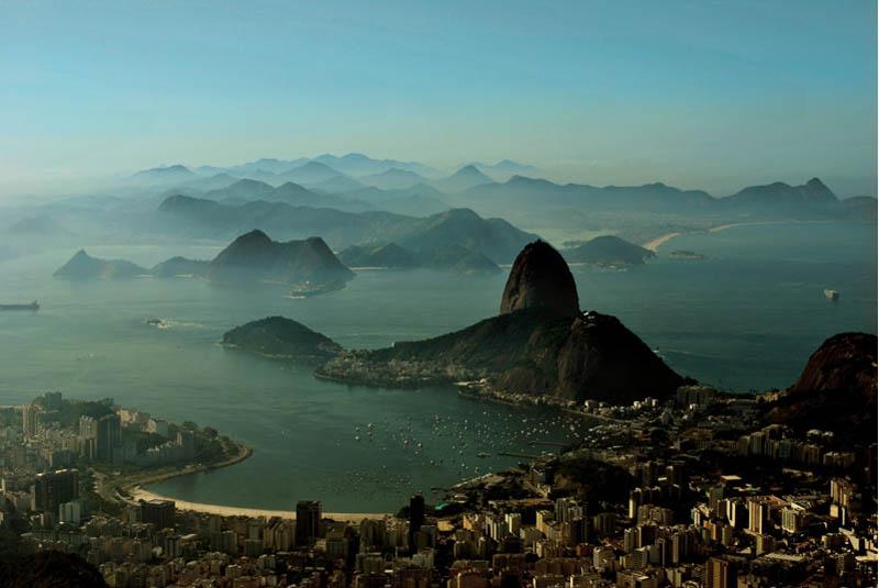 rio de janeiro brazil skyline aerial 25 Stunning Skylines Around the World