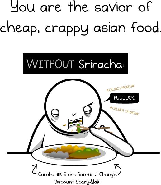 sriracha rooster sauce comic oatmeal 2 Dear Sriracha [Comic Strip]