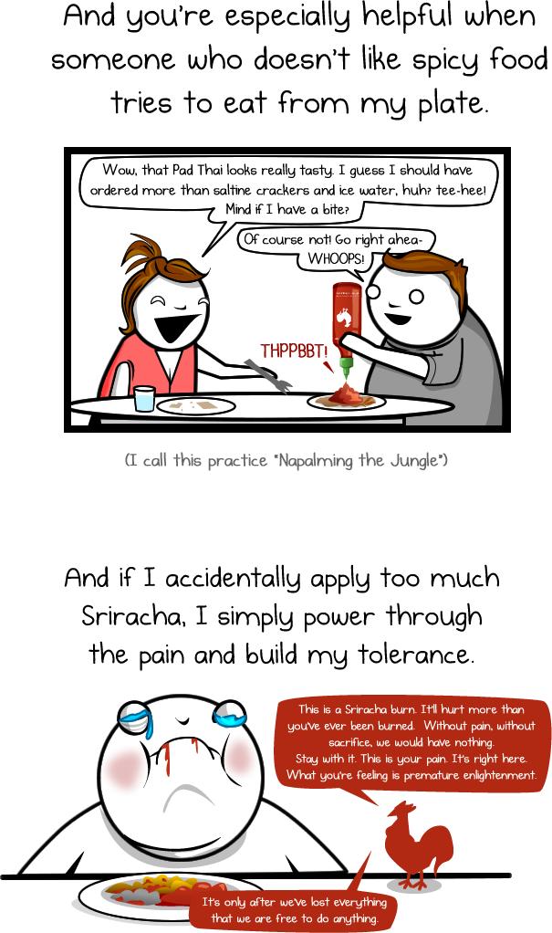 sriracha rooster sauce comic oatmeal 4 Dear Sriracha [Comic Strip]