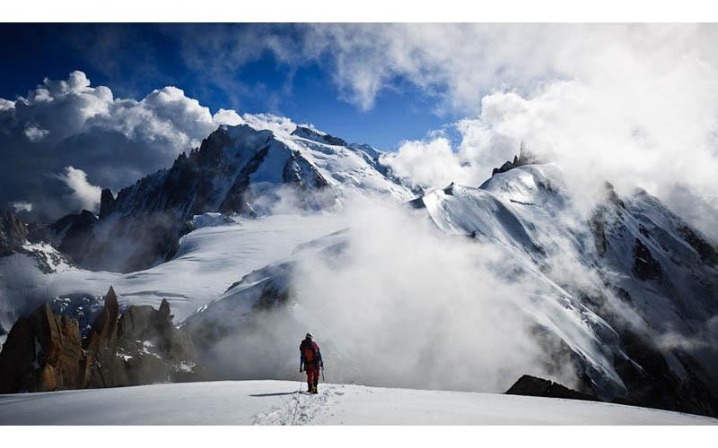 aiguille du plan chamonix france man vs mountain Picture of the Day: Man Versus Mountain