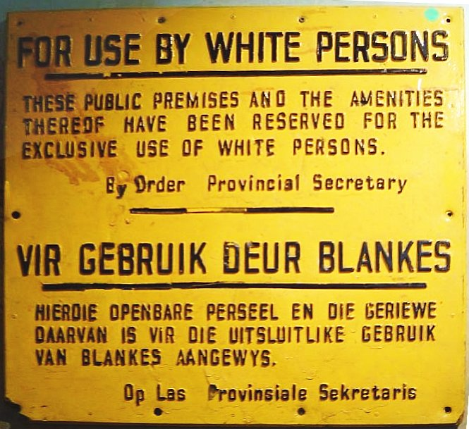 apartheid sign south africa This Day In History   April 27th