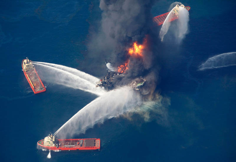 deepwater horizon on fire This Day In History   April 20th