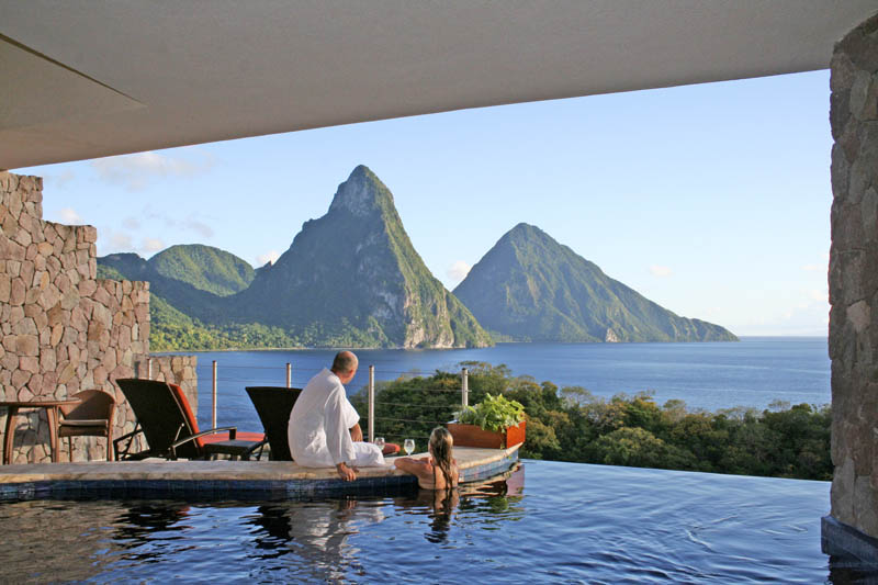 jade mountain st lucia infinity pool every room 18 Jade Mountain: Where All Rooms Have Infinity Pools