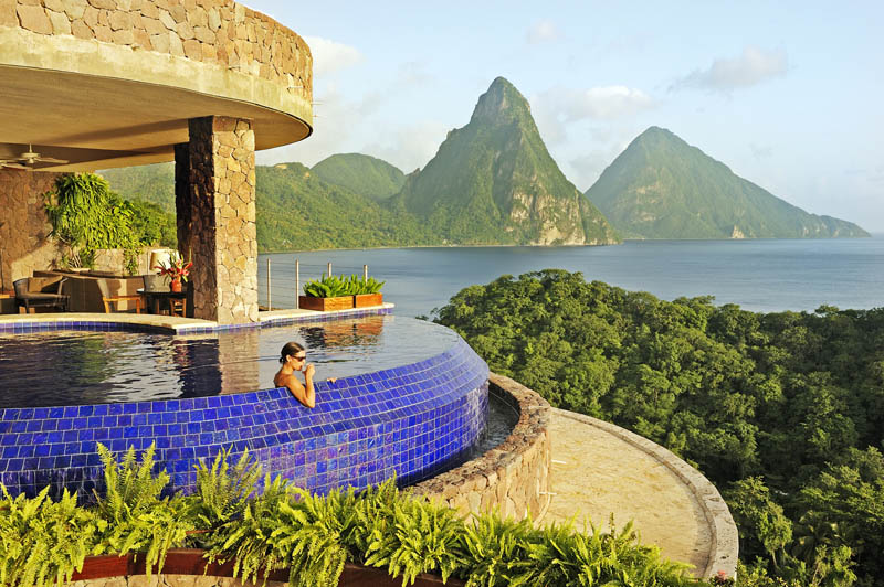 jade mountain st lucia infinity pool every room 4 Jade Mountain: Where All Rooms Have Infinity Pools