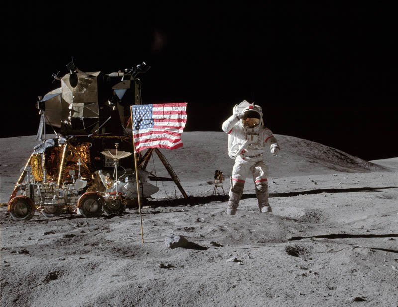 john w  young on the moon apollo 16 This Day In History   April 20th
