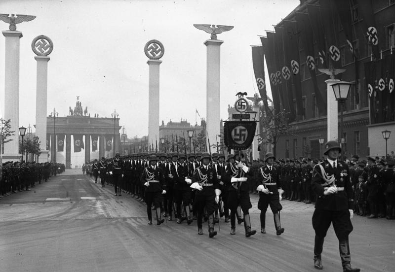 largest military parade in third reich history This Day In History   April 20th