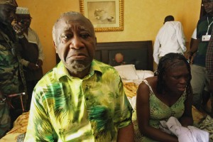 laurent gbagbo and wife in custody arrested ivory coast 2011 Ivory Coasts Laurent Gbagbo and his wife Simone sit in a room at Hotel Golf in Abidjan, after they were arrested