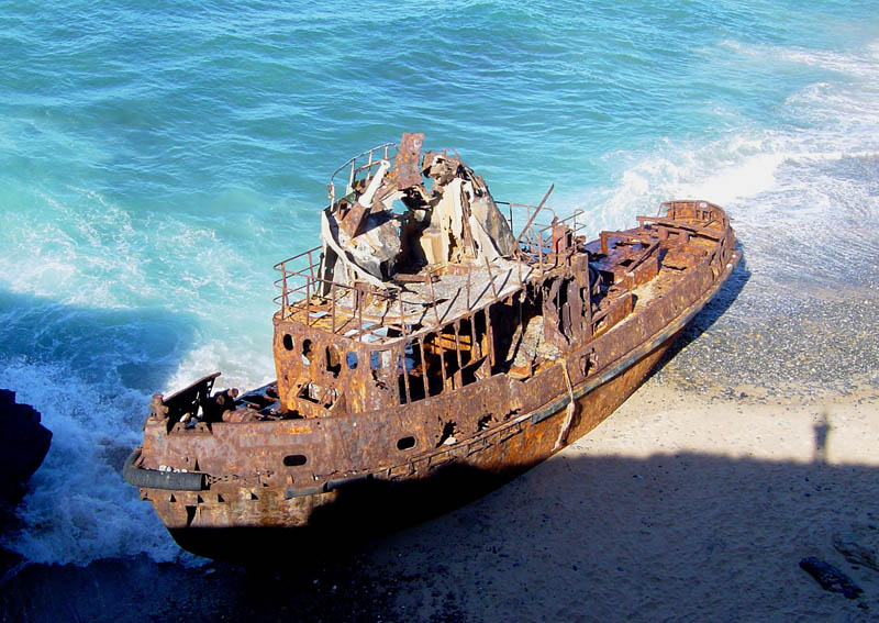 shipwreck vila nova de milfontes portugal 25 Haunting Shipwrecks Around the World