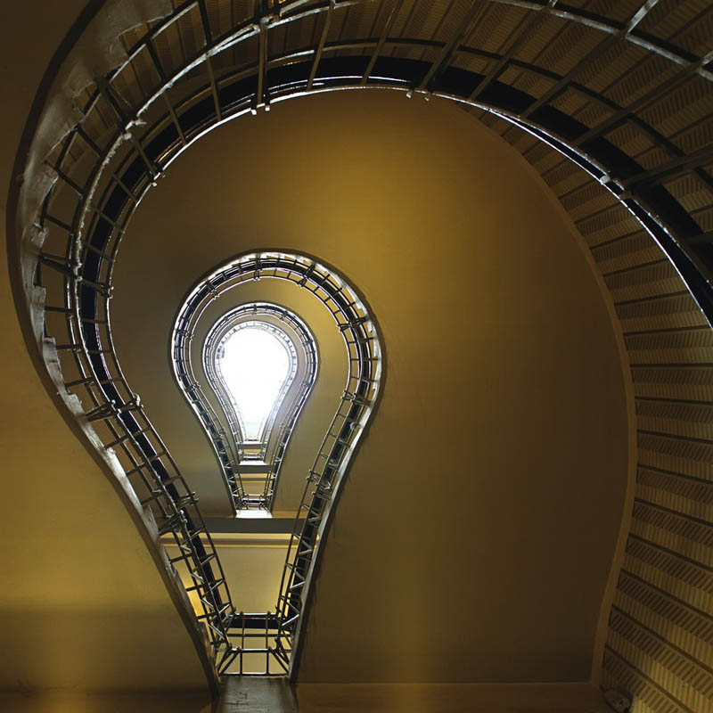 spiral staircase looks like light bulb Picture of the Day: Bright Idea For A Staircase