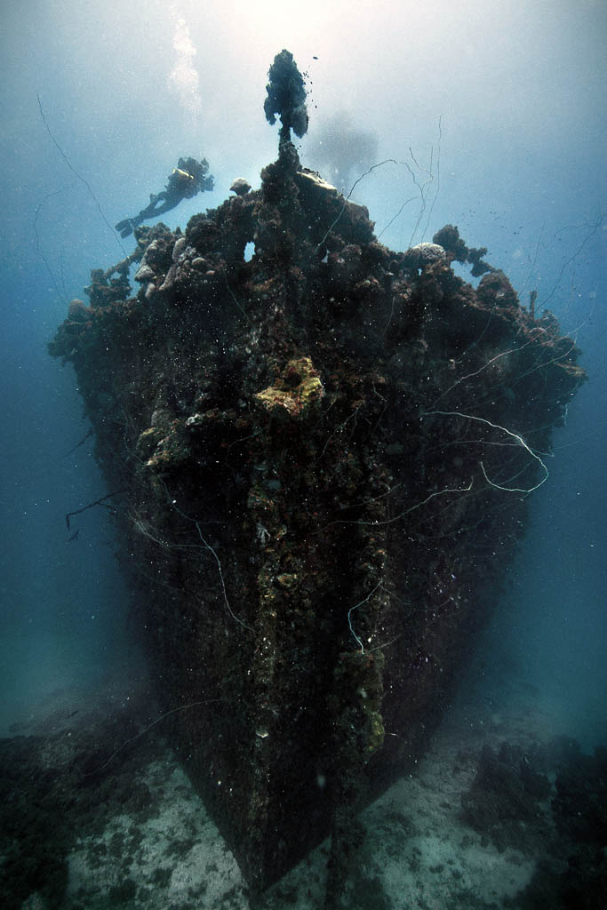 unkai maru in truk lagoon micronesia 25 Haunting Shipwrecks Around the World