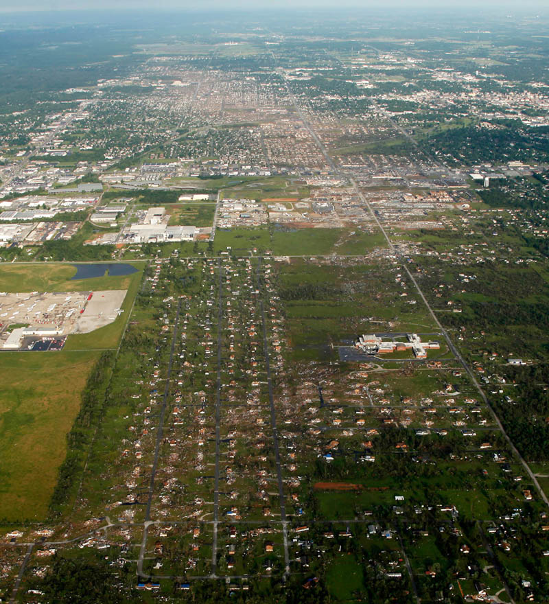 aerial joplin missouri tornado from above 2011 Picture of the Day: Tornados Destructive Path Through Joplin From Above