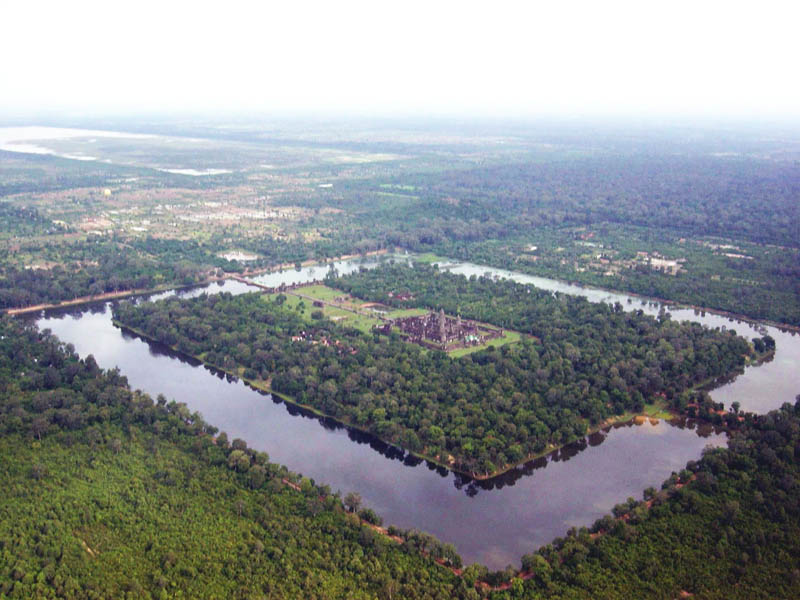 angkor wat aerial moat 20 Impressive Moats Around the World