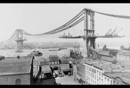 Picture of the Day: The Manhattan Bridge Under Construction in 1909