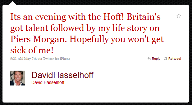 david hasslehoff humblebrag The 50 Funniest Humble Brags on Twitter