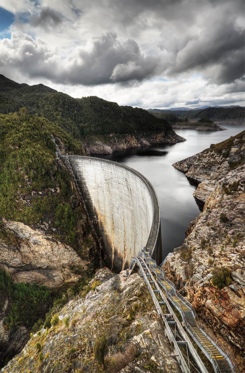 gordon dam australia Picture of the Day: The Gordon Dam, Australia