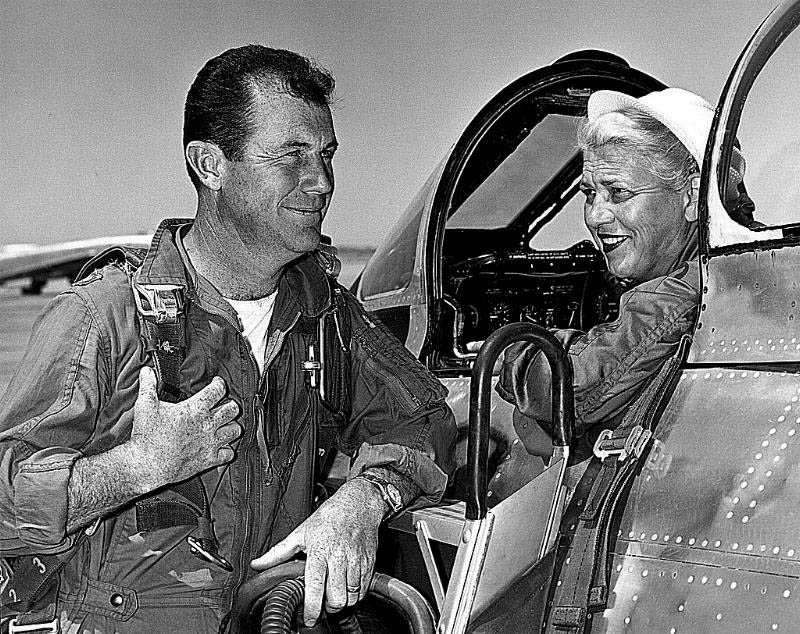 jacqueline cochrane with chuck yeager This Day In History   May 18th
