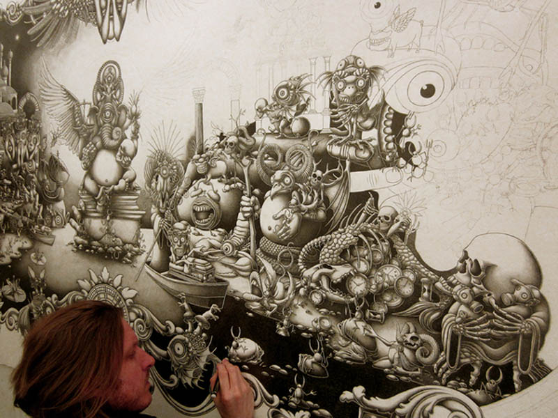 joe fenton artist large drawing 10 Astonishing 8 ft x 5 ft Drawing by Joe Fenton [15 pics]