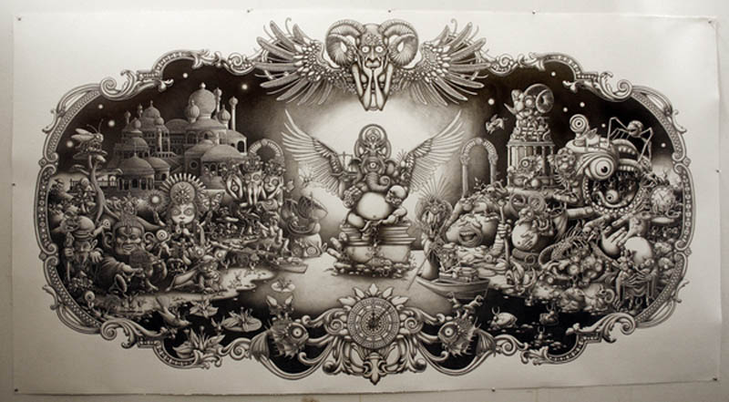 joe fenton artist large drawing 11 Astonishing 8 ft x 5 ft Drawing by Joe Fenton [15 pics]