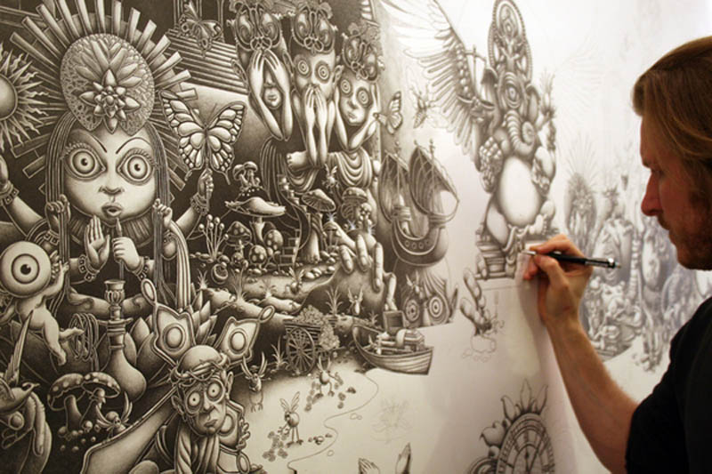 joe fenton artist large drawing 12 Astonishing 8 ft x 5 ft Drawing by Joe Fenton [15 pics]