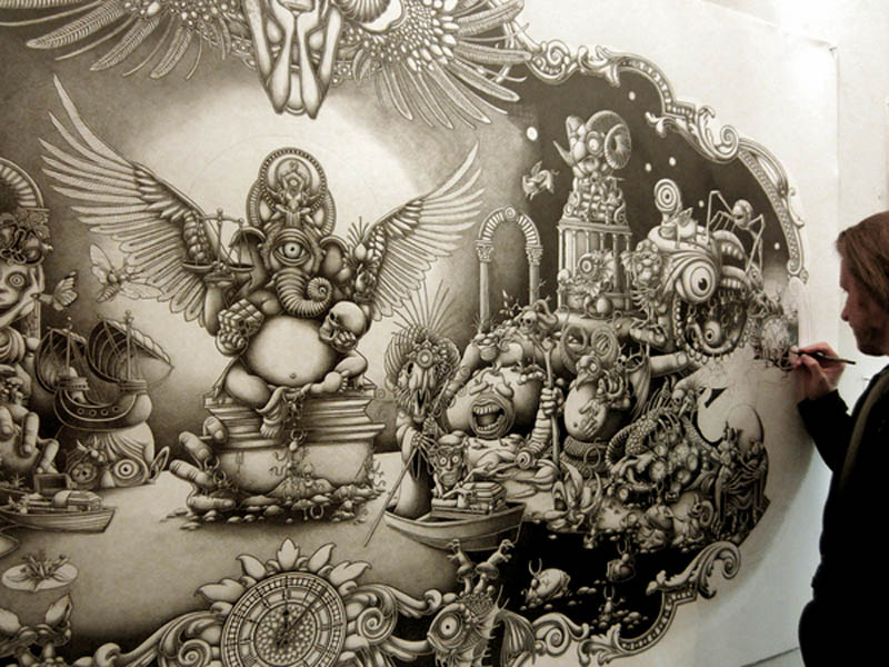 joe fenton artist large drawing 2 Astonishing 8 ft x 5 ft Drawing by Joe Fenton [15 pics]