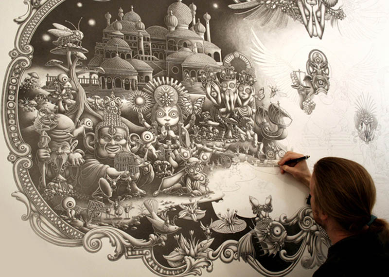 joe fenton artist large drawing 4 Astonishing 8 ft x 5 ft Drawing by Joe Fenton [15 pics]