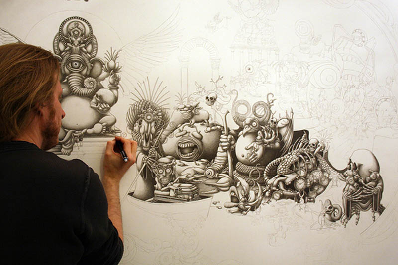 joe fenton artist large drawing 7 Astonishing 8 ft x 5 ft Drawing by Joe Fenton [15 pics]