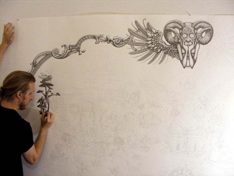 joe fenton artist large drawing 8 Astonishing 8 ft x 5 ft Drawing by Joe Fenton [15 pics]