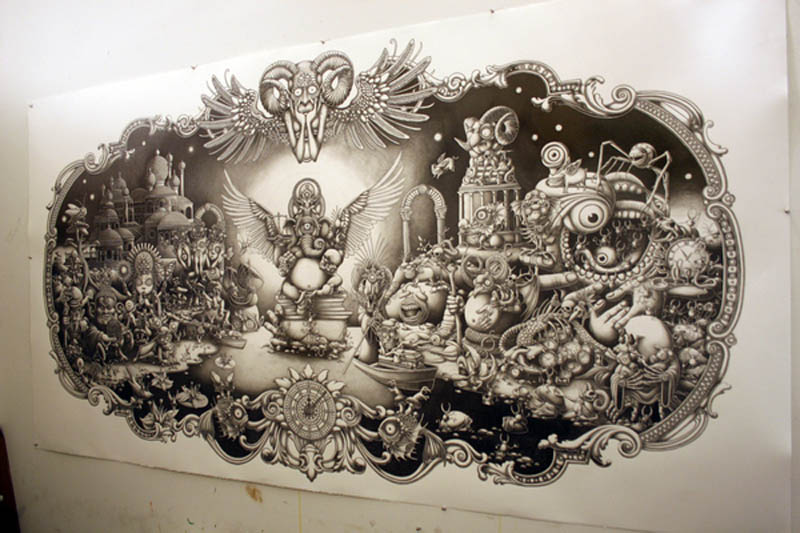joe fenton artist large drawing 9 Astonishing 8 ft x 5 ft Drawing by Joe Fenton [15 pics]