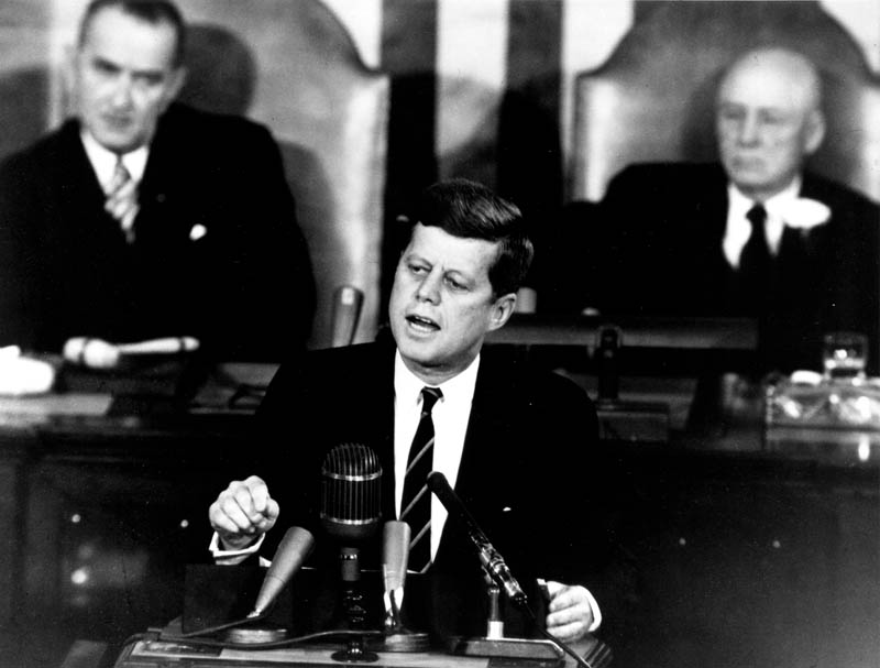 kennedy speaking to congress to put a man on the moon This Day In History   May 25th