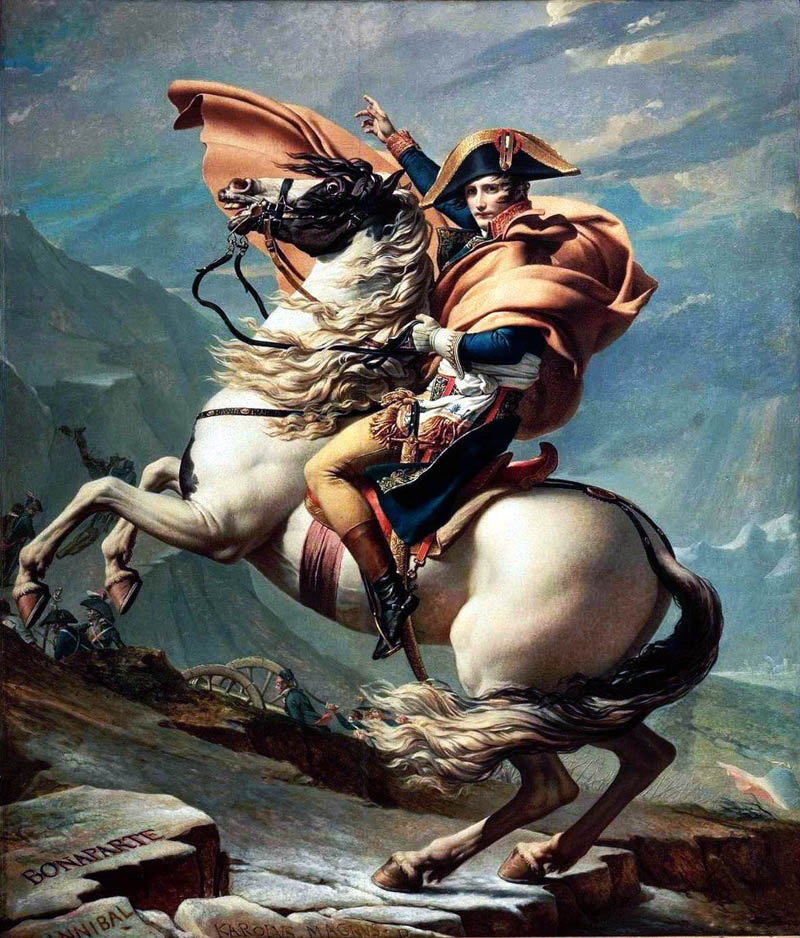 napoleon riding horse hand in air This Day In History   May 18th