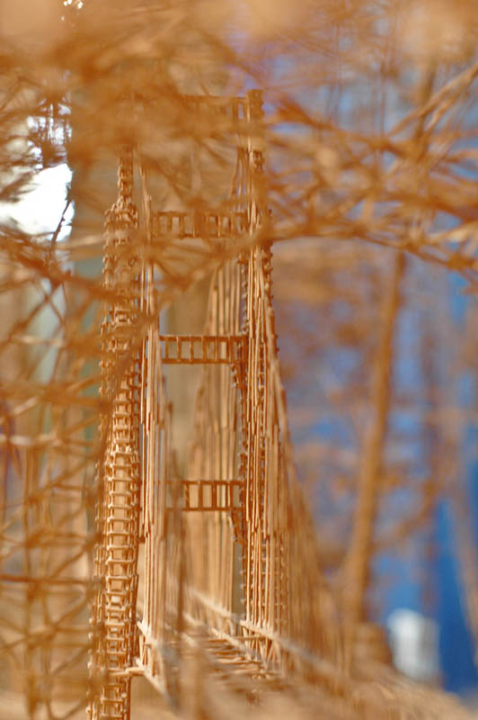 san francisco toothpicks scott weaver rolling through the bay 17 Kinetic San Francisco by Scott Weaver: 35 Years & 100,000 Toothpicks