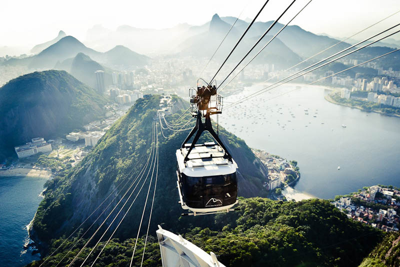 sugarloaf mountain cable car Picture of the Day: The Sugarloaf Mountain Cable Car, Rio de Janeiro