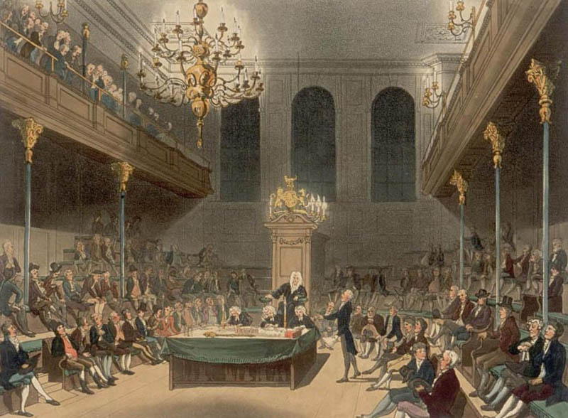 the house of commons at westminster as drawn by augustus pugin and thomas rowlandson This Day In History   May 11th