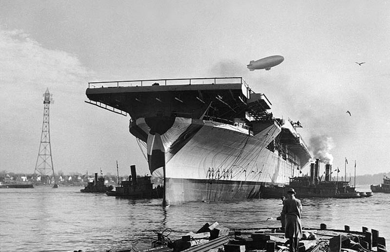 uss bunker hill being launched ww2 This Day In History   May 11th