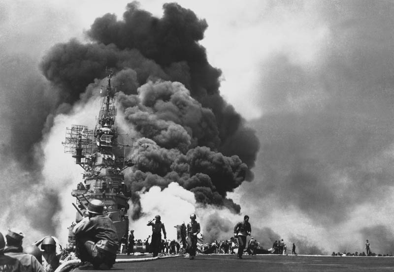 uss bunker hill hit by two kamikazes This Day In History   May 11th