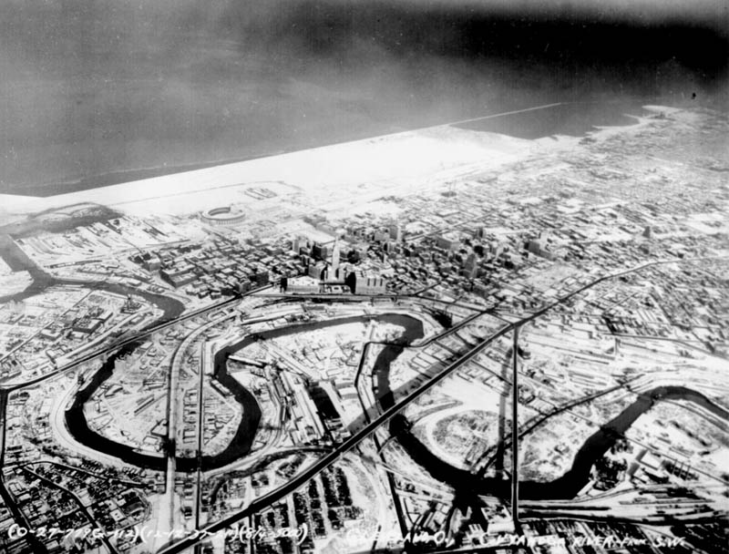 cuyahoga river aerial through cleveland ohio This Day In History   June 22nd