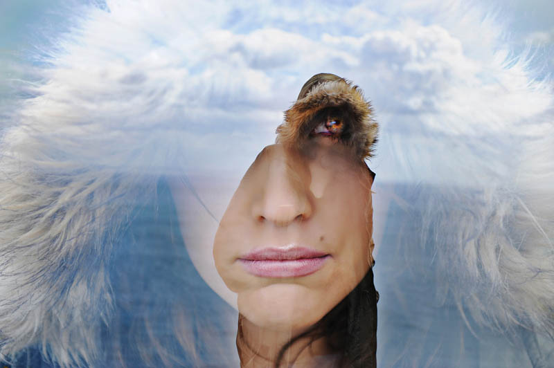 double exposure of woman face Picture of the Day: Double Exposure Done Right