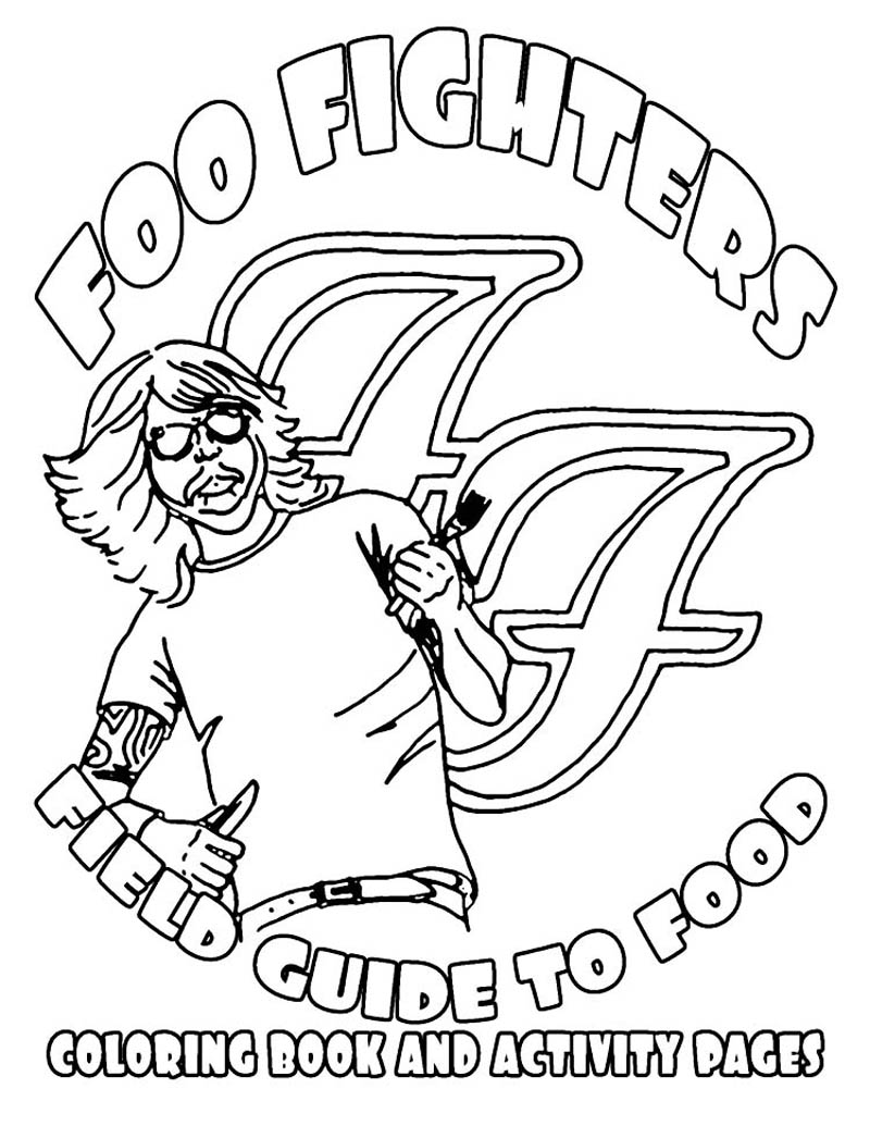 foo fighters illustrated rider food coloring book 3 12 Pictograph Music Posters by Viktor Hertz