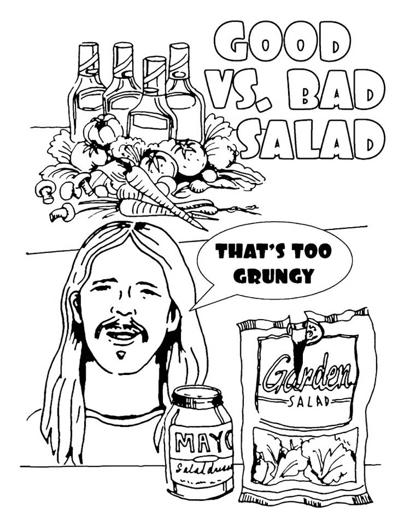 foo fighters illustrated rider food coloring book 6 The Hilarious Foo Fighters Illustrated Tour Rider