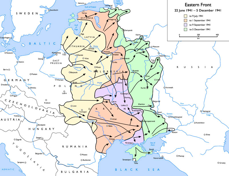 map of wwii eastern front 22 june 1941 to 5 december 1941 This Day In History   June 22nd