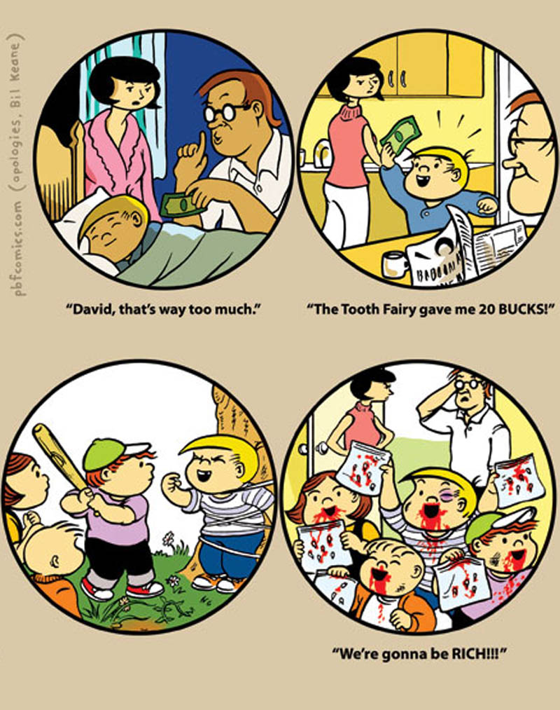 perry bible fellowship family circus comic funny pbf tooth fairy The Tooth Fairy [Comic Strip]