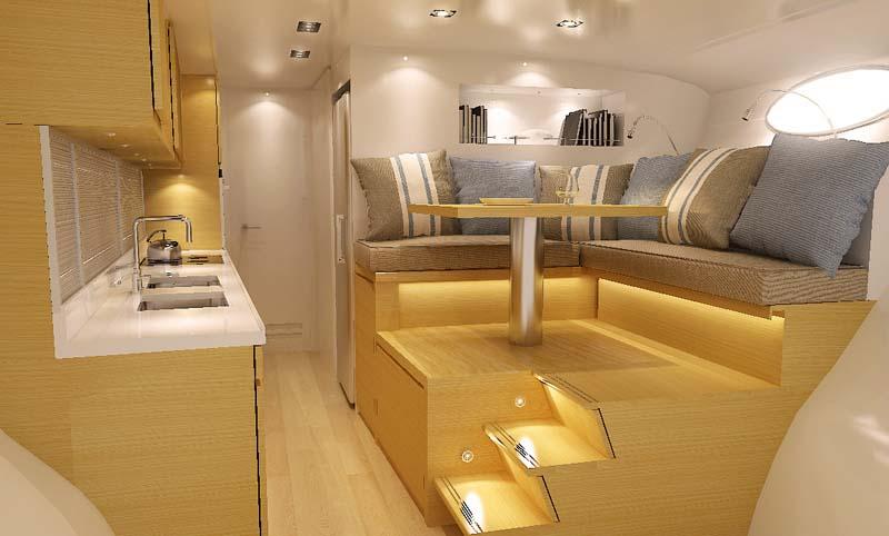 adastra interior trimaran The Trimaran Adastra Superyacht by John Shuttleworth [17 pics]