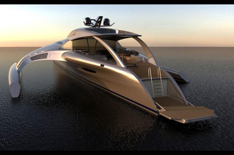The Trimaran Adastra Superyacht by John Shuttleworth [17 pics]