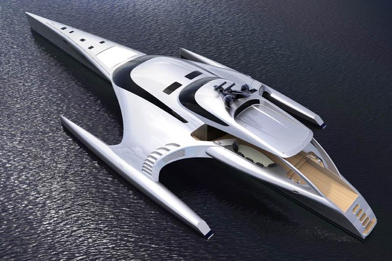 adastra superyacht john shuttleworth yacht designs power trimaran5 The Trimaran Adastra Superyacht by John Shuttleworth [17 pics]