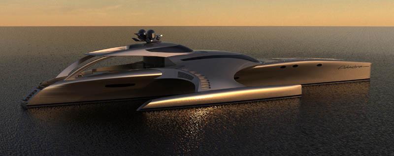 adastra superyacht john shuttleworth yacht designs power trimaran8 The Trimaran Adastra Superyacht by John Shuttleworth [17 pics]