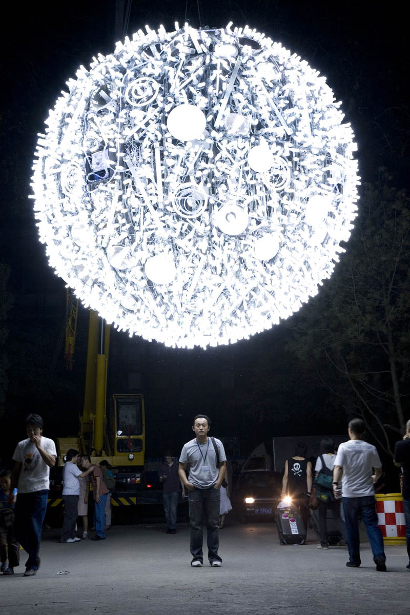 artificial fluorescent moon Picture of the Day: Fluorescent Moon in Shanghai