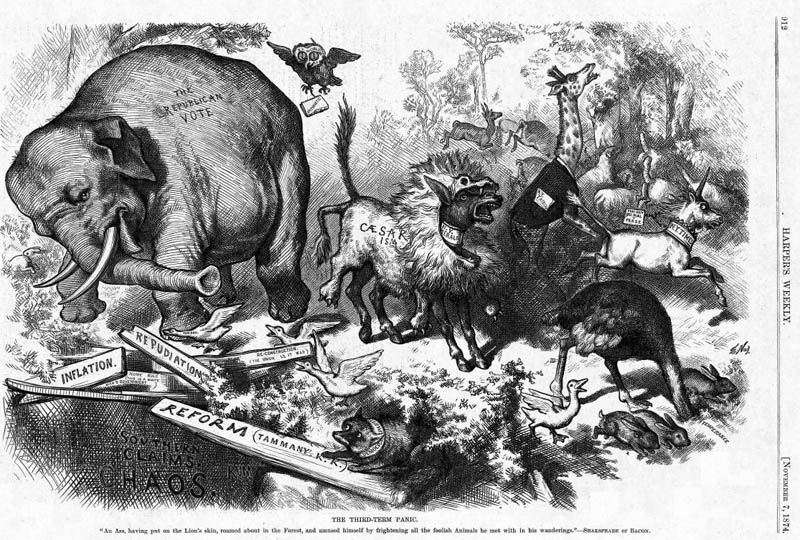 first appearance of republican elephant mascot This Day In History   July 6th