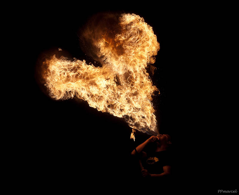 flame in shape of heart fire breather pp marcel Picture of the Day: I Heart Flames