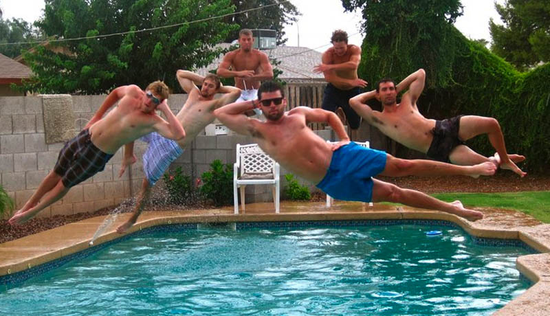 jumping into pool The Friday Shirk Report   Volume 118